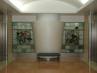 東京大学 医学部付属病院 エレベーターホール1