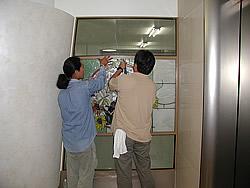 東京大学付属病院取付工事風景4