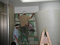 東京大学付属病院取付工事風景5