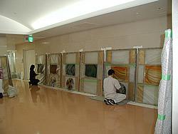 東京大学付属病院取付工事風景6