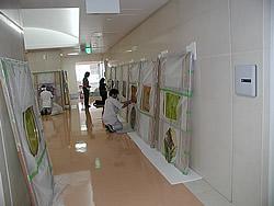 東京大学付属病院取付工事風景7