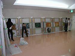 東京大学付属病院取付工事風景    10